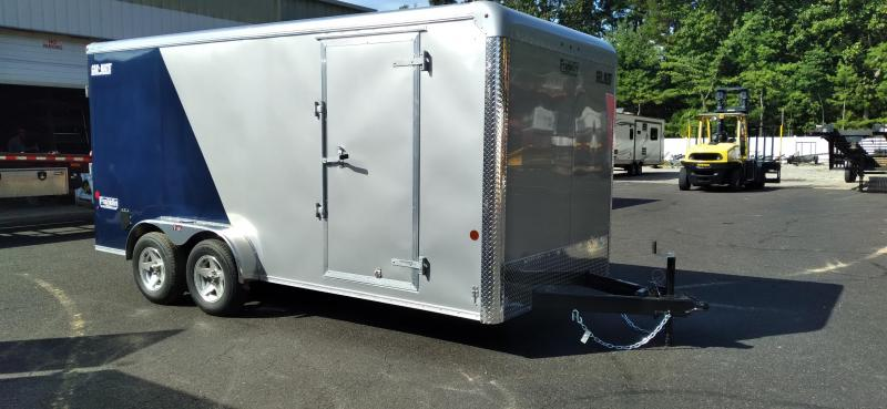 """2021 Car Mate 7x16 Enclosed Cargo Trailer with 6"""" Addt'l Height 2024760"""