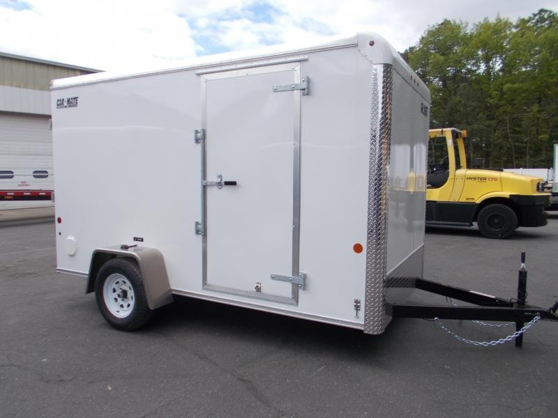 "2021 Car Mate 6x12 Enclosed Cargo Trailer With 6"" Addt'l Height 2024221"