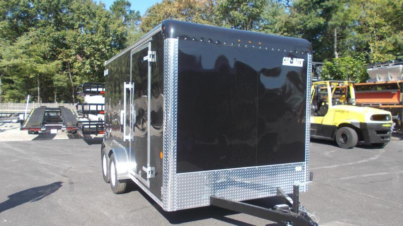 "2021 Car Mate Trailers 7 X 14 Tandem Axle Custom Enclosed Cargo Trailer w/ 6"" Additional Height 2022899"