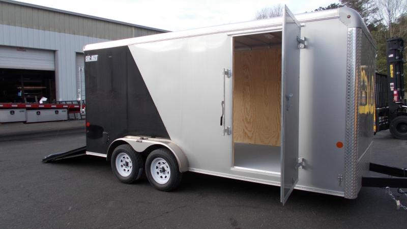 "2021 Car Mate 7x16 Enclosed Cargo Trailer with 6"" Addt'l Height 2023303"
