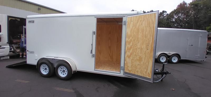 """2021 Car Mate 7x16 Enclosed Cargo Trailer with Addt'l 6"""" Interior Height 2024842"""