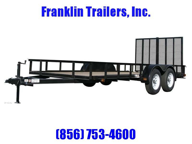 2020 Carry-On 6X14 7000 lbs. GVWR 6 ft. Tandem Wood Floor Utility Trailer 2021946