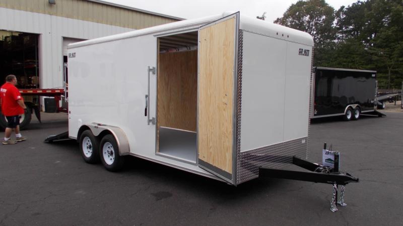 "2021 Car Mate Trailers 7x16 Enclosed Cargo Trailer W/ 6"" Additional Height 2022945"