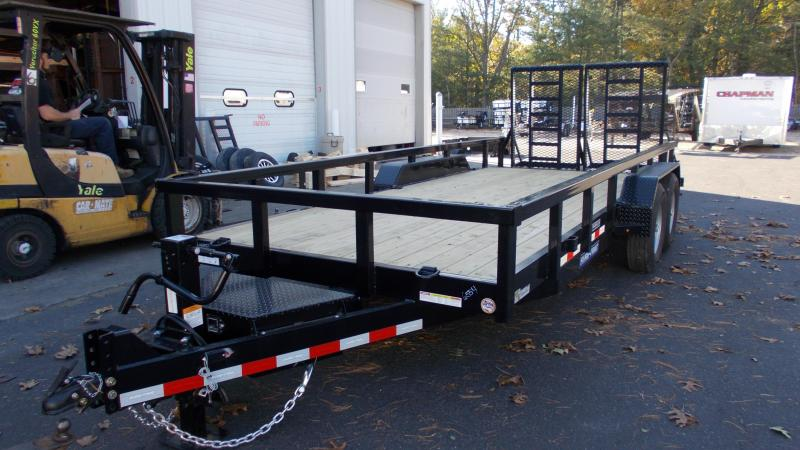 2021 Sure-Trac 7 x 18 (16+2) Heavy Duty Equipment Trailer 2022908