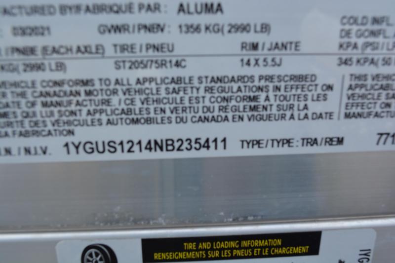 """2022 Aluma 7712H-S-TG Utility Trailer 6'6""""X12'"""