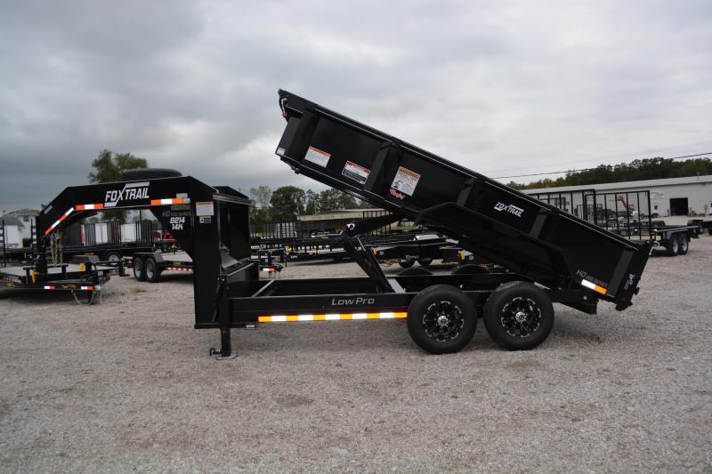 """2022 Fox Trail 8200 Series 82"""" Wide Tandem Axle 14' Dump Trailer"""
