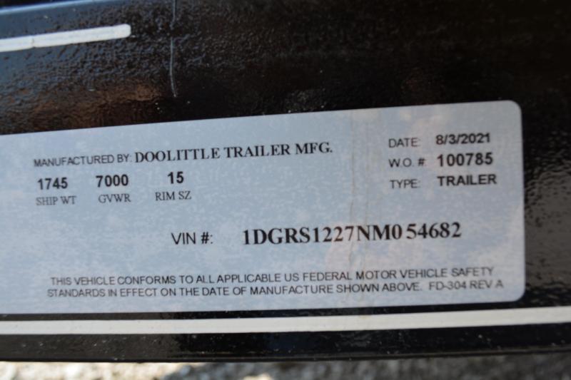 2022 Doolittle Trailer Mfg 84x12 Utility Trailer