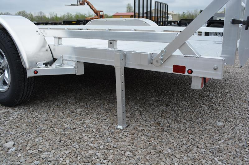"2022 Aluma 7816TA-EL-BT-TR-RTD Utility Trailer 6'6""X16'"