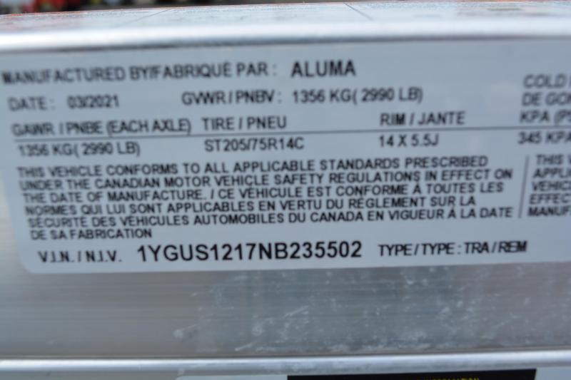 "2022 Aluma 7712H-S-BT Utility Trailer 6'6""X12'"
