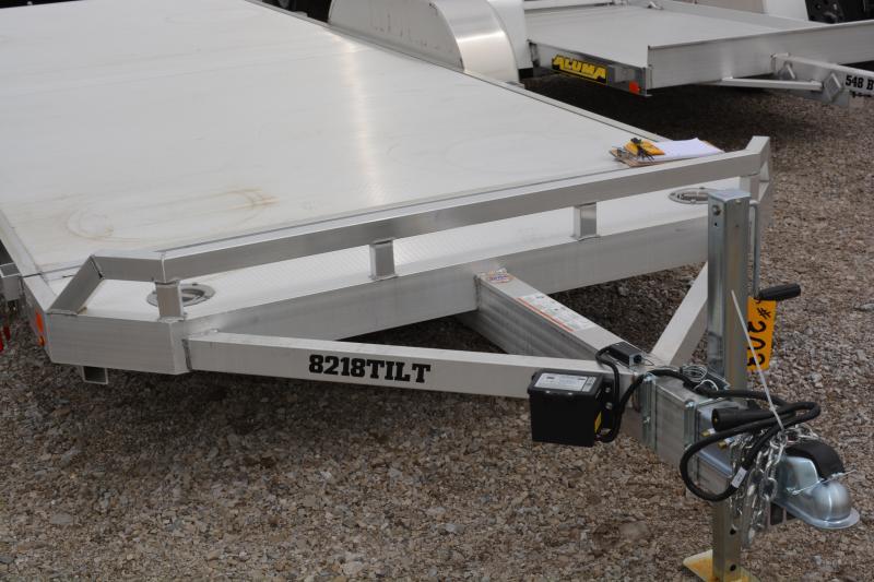 2022 Aluma 8218TILT-TA-EL-RTD Utility Trailer