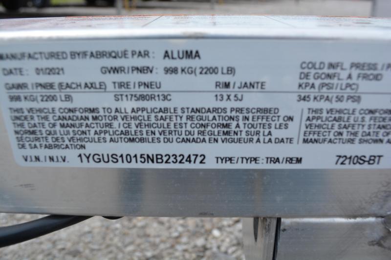 2022 Aluma 7210S-BT Utility Trailer 6'X10'