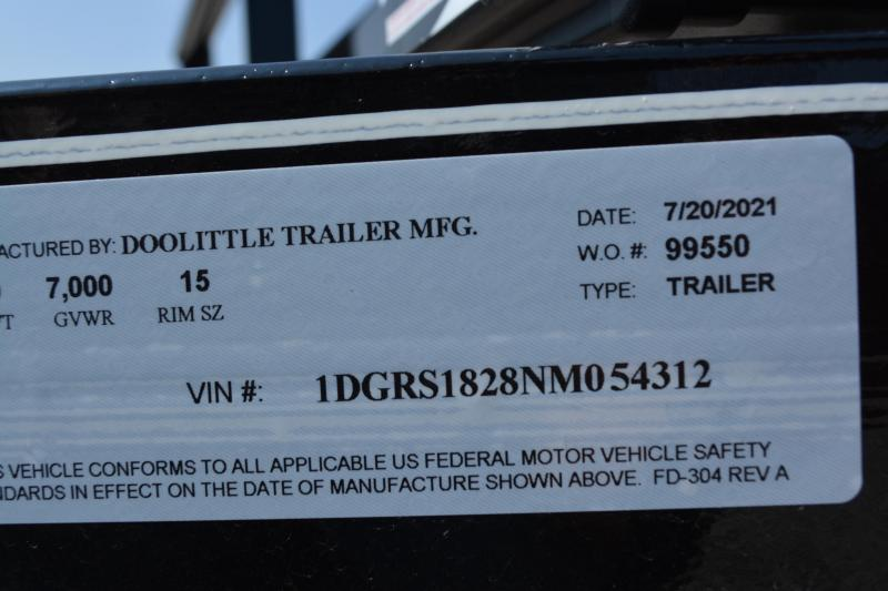 2022 Doolittle Trailer Mfg 84x18 Equipment Trailer