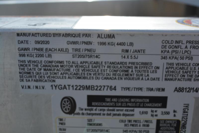 2021 Aluma A8812TA-EL-RATV Trailer