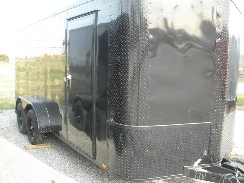 2021 Arising 7' X 16' Black & Black Trim Pkg. Enclosed Cargo Trailer