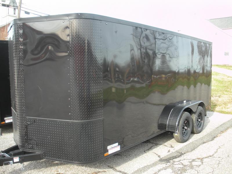 2021 Arising 7' X 16' Black & Black Trim Pkg. Enclosed Cargo Trailer