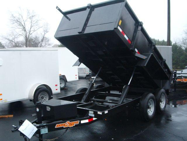 "SOLD OUT* Can be Ordered* 2020 Down 2 Earth Trailers 6' X 12' 10K Dump *24"" High Sides (Tarp not included add $285)* Ramps*Twin Cylinders* Dump Trailer"