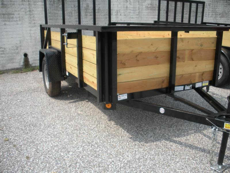 "2021 Quality Steel and Aluminum 62"" X 8' Wood High Side Utility Trailer"