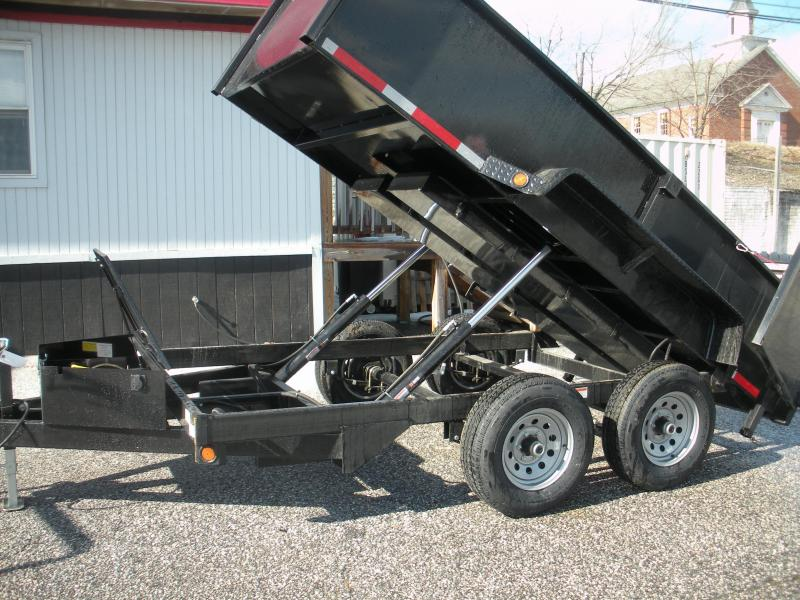"2021 QSA 72"" X 12' 10K *Dual Rams*Power Up & Down*Barn Doors*11 GA Floor*Stored Underneath Ramps*Dump Trailer"