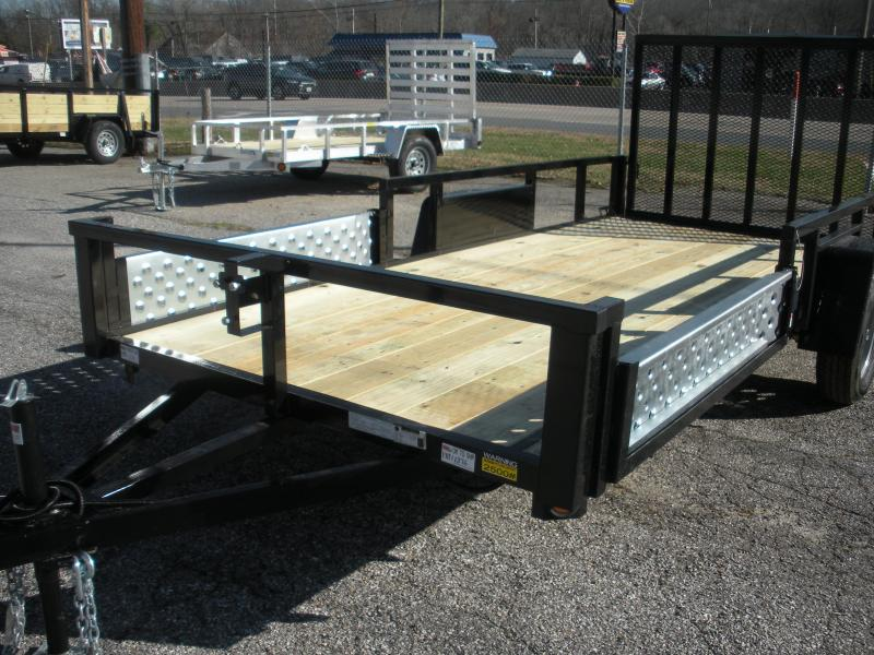 "2021 Quality Steel and Aluminum 74"" X 14' 3K Single Axle ""ATV Ramps"" Utility Trailer"