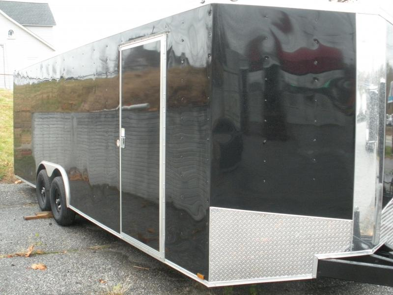 2020 Spartan 8.5' X 24' 10K Black w/Triple Tube Tongue and Thermo Ceiling Car / Racing Trailer