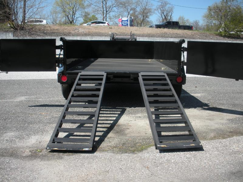 Due in Feb.16th 2021 Cam Superline 6' X 12' 10 K Low Profile Dump Trailer with 3 Way Gate & Ramps