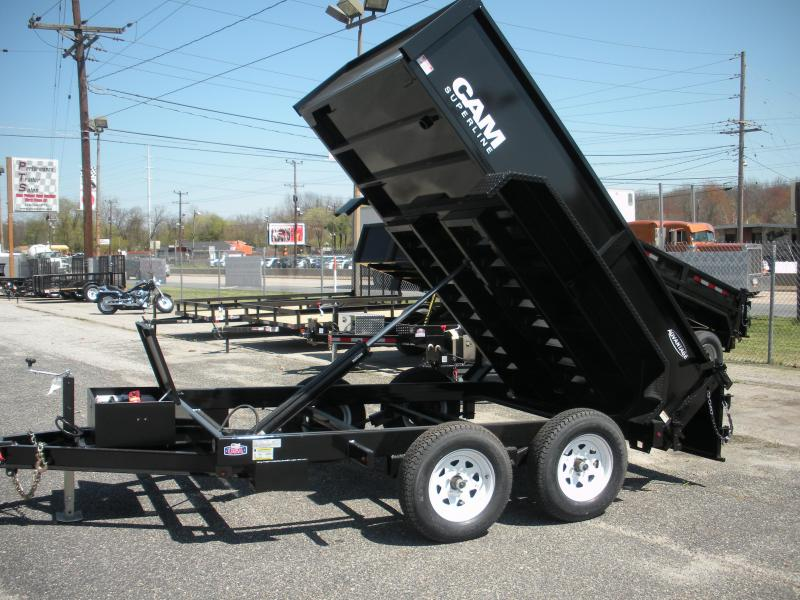 Due in Mid December*Reserve one now! 2021 Cam Superline 6' X 12' 10 K Low Profile Dump Trailer with 3 Way Gate & Ramps