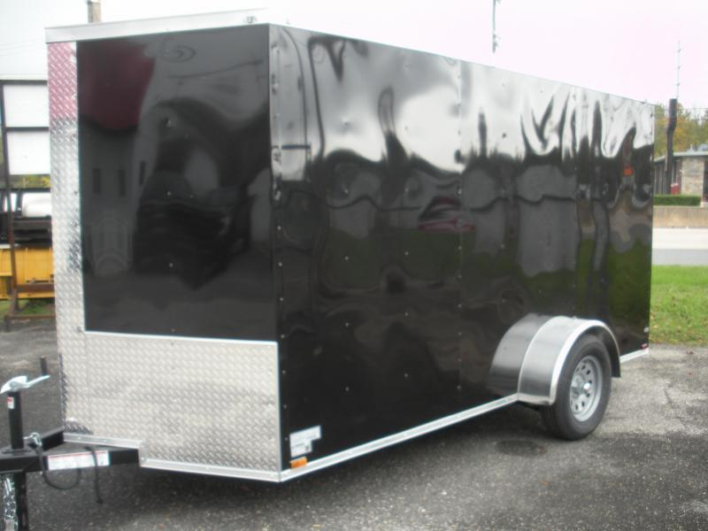 Black 2021 MCTL 6' X 12' *LED Lights*Ramp Door*Side Door*Enclosed Cargo Trailer