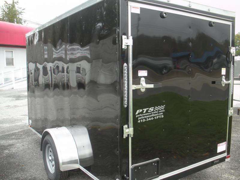 Black 2021 MCTL 6' X 12' *LED Lights*Ramp Door*Side Door*Enclosed Cargo Trailer