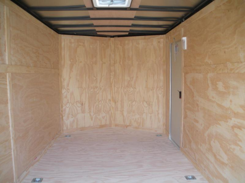 2020  Spartan 7' X 14' 3K Black Semi-Screwless with 6 D Rings Enclosed Cargo Trailer
