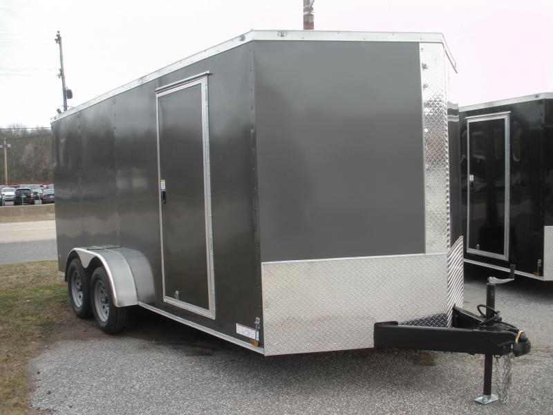 """HOT DEAL"" 2020 Anvil 7' X 16'  Charcoal Enclosed Cargo Trailer"