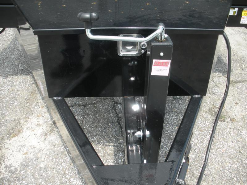 """2021 Quality Steel and Aluminum 83"""" X 14' 14K *Dual Rams*Ramps Folded in Rear Gate*Stabilizer Legs*Power Up & Down*Dump Trailer"""