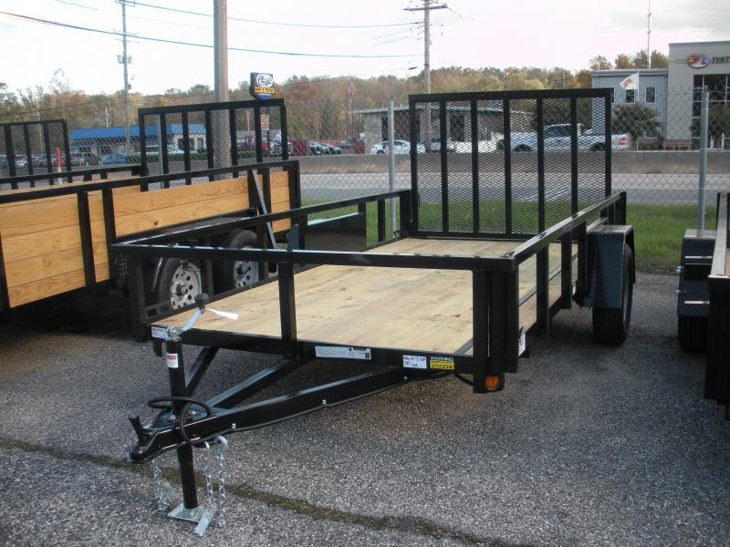 "2020 Quality Steel and Aluminum 62"" X 10' 3K Tube Steel Utility Trailer"