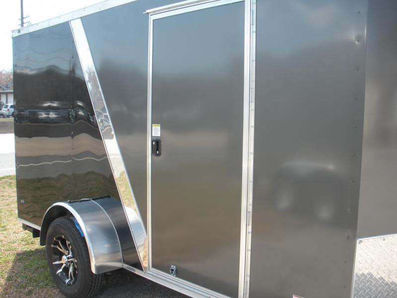 2020 Anvil 6' X 12' Enclosed 2 Tone Black and Charcoal Cargo Trailer