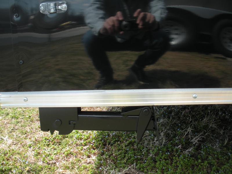 2021 Anvil 6' X 12' Enclosed 2 Tone Black and Charcoal Cargo Trailer