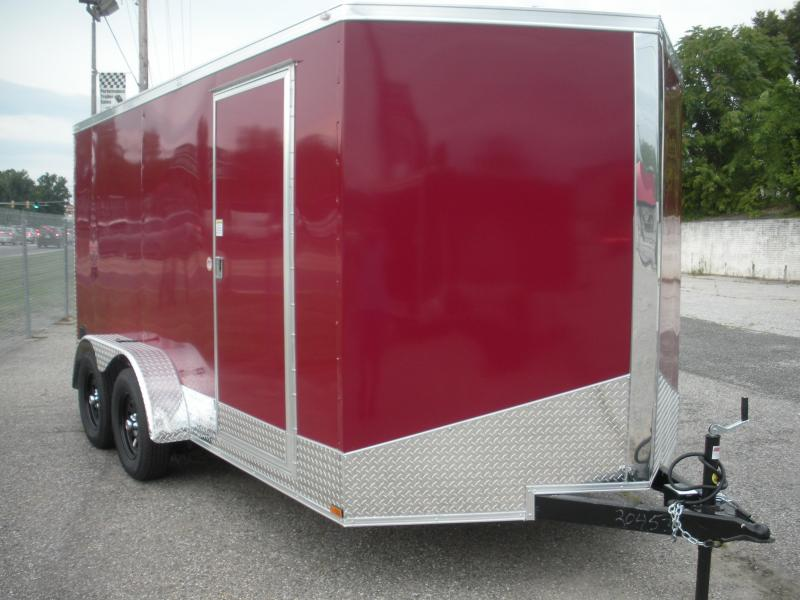 "2021 Spartan 7' X 14' Assorted Colors-12"" Aluminum Tread Plate Sides and Rear-Aluminum Tread Plate Rear Corners-Chrome Caps-4 D Rings in Floor  Enclosed Cargo Trailer"