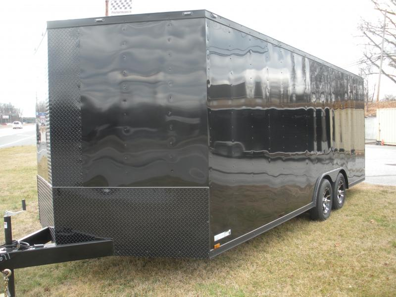"2021 Anvil 8.5' X 20' ""Black Out"" 7K *Spider Mag's* 6 D Rings*Car / Racing Trailer"