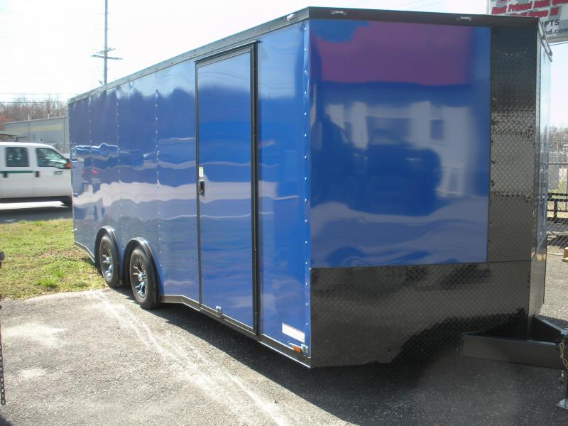 2021 Anvil 8.5' X 20' Black Trim Pepsi Blue Spread Axle Torsion 7K Car / Racing Trailer