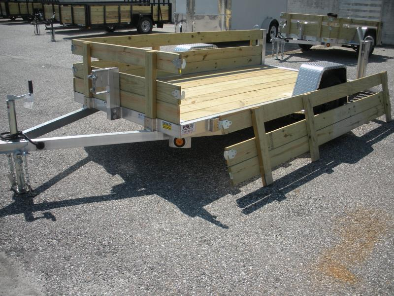 "2020 Quality Steel and Aluminum 62"" X 8' Aluminum w/ Removable Wood Sides Utility Trailer"