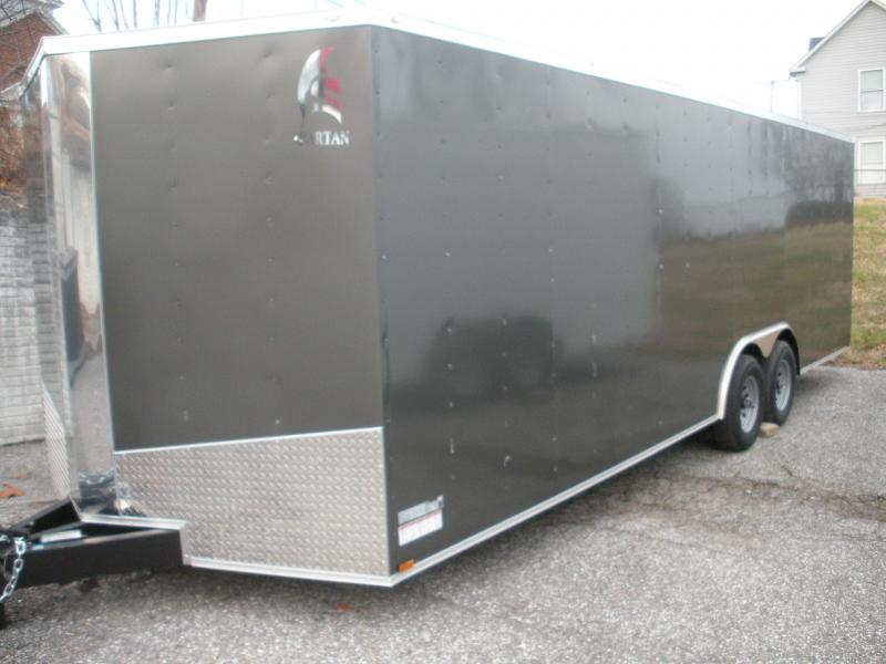 2021 Spartan 8.5' X 24' 10K Charcoal w/Triple Tube Tongue and Thermo Ceiling Car / Racing Trailer