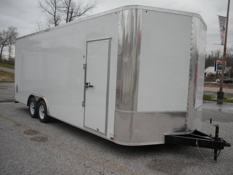 "2021 Arising 8.5' X 22' X 7'6"" Height *Buggy Wheels*Side Vents* 7K  Enclosed Cargo Car Trailer"