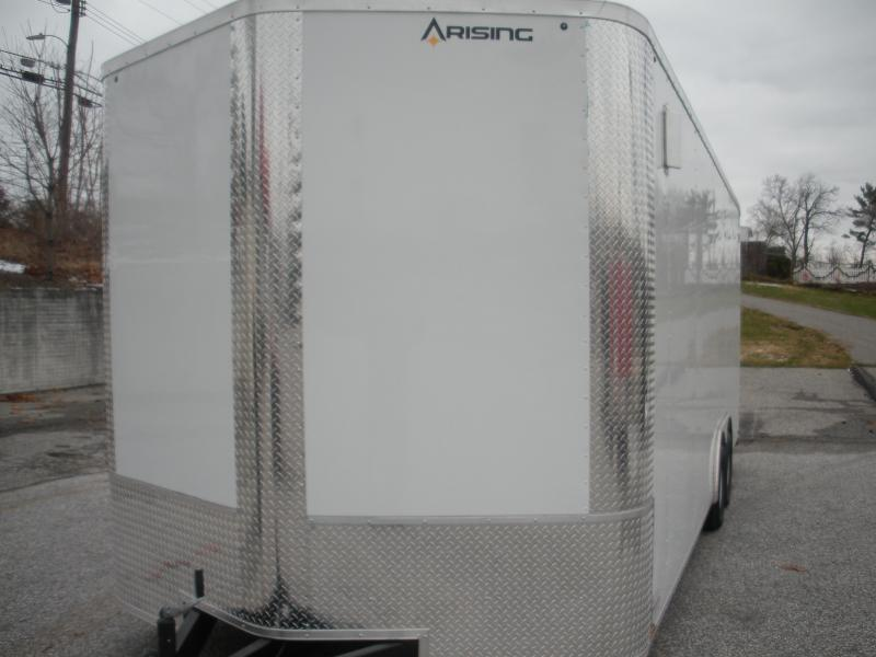"""2021 Arising 8.5' X 22' X 7'6"""" Height *Buggy Wheels*Side Vents* 7K  Enclosed Cargo Car Trailer"""