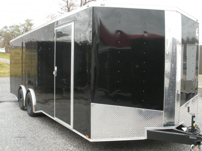 2020 Spartan 8.5' X 24' 10K Black w/Torsion Spread Axles and Thermo Ceiling Car / Racing Trailer