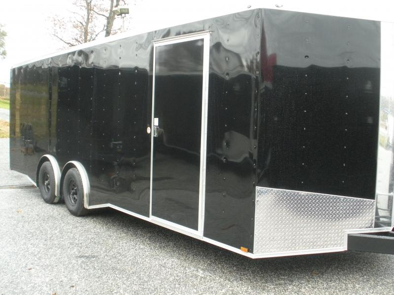 2021 Spartan 8.5' X 24' 10K Black w/Torsion Spread Axles and Thermo Ceiling Car / Racing Trailer
