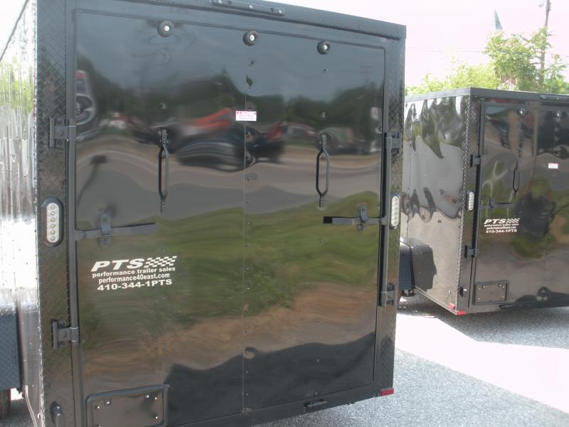 2021 Arising 6' X 12' 3K  Black Out Enclosed Motorcycle Cargo Trailer