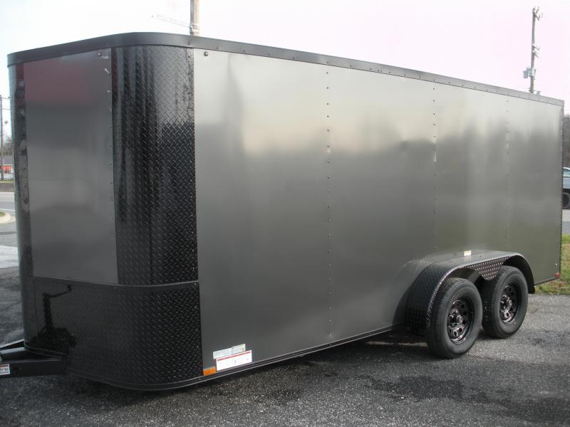 2021 Arising 7' X 16' Charcoal & Black Trim Pkg. Enclosed Cargo Trailer