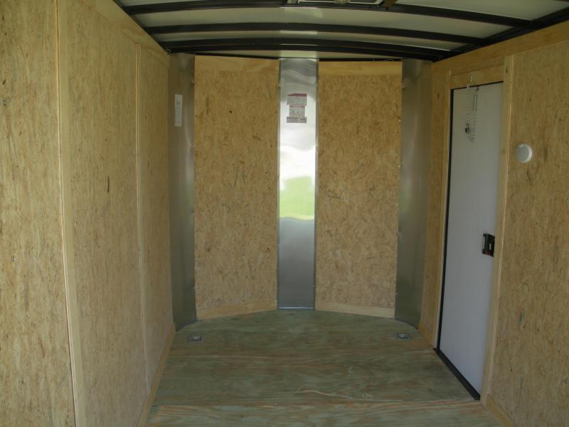 2021 Arising 6' X 12' 3K Silver/Black Out/4D-Rings Enclosed Motorcycle Cargo Trailer