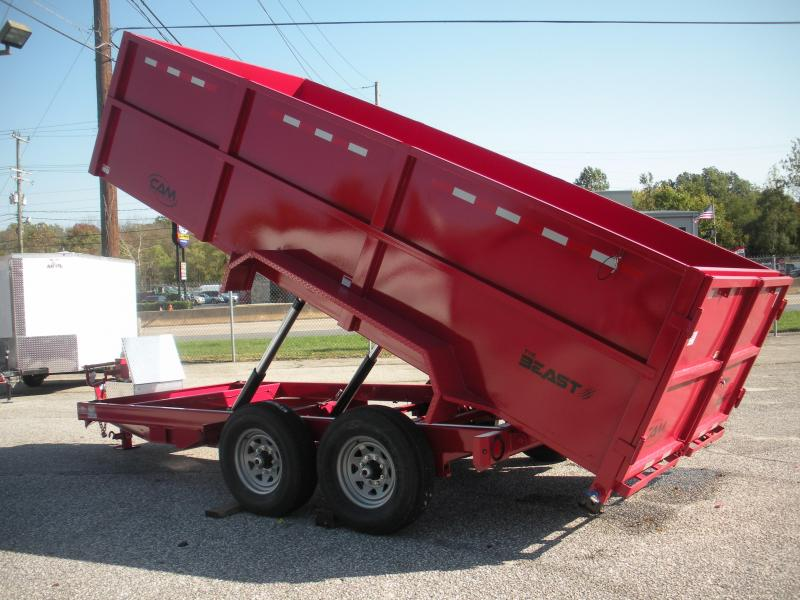 "2021 Cam Superline 16K 44"" High Solid Sides 7'X16' *Slide Out Ramps*Dump Trailer"