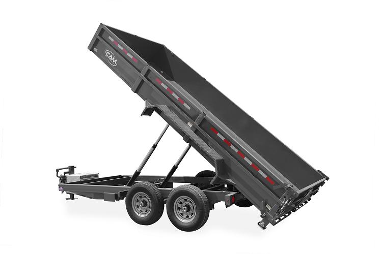 """2021 Cam Superline 16K 44"""" High Solid Sides 7'X16' *Slide Out Ramps*Dump Trailer"""