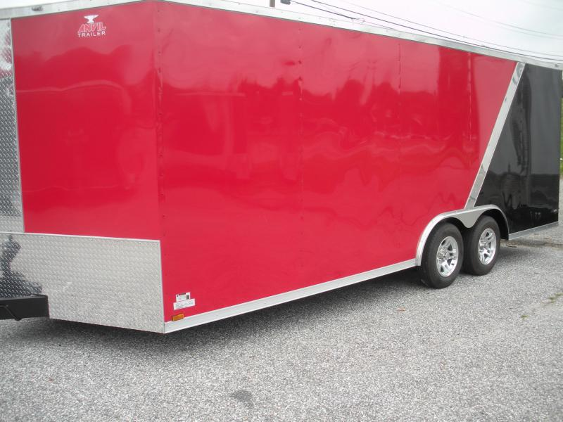 2021 Anvil 8.5' X 20' Black & Red w/ Aluminum Wheels 7K Car / Racing Trailer