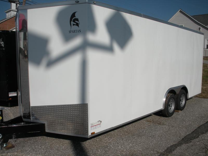IN STOCK NOW *2021 Spartan 8.5' X 20' X 7' Height 10K White Car / Racing Trailer